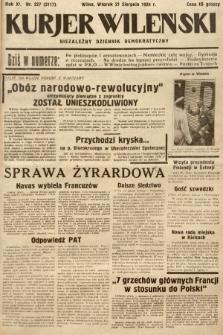 Kurjer Wileński : niezależny dziennik demokratyczny. 1934, nr227