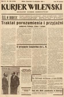 Kurjer Wileński : niezależny dziennik demokratyczny. 1934, nr250