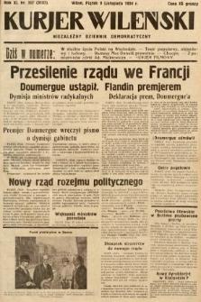 Kurjer Wileński : niezależny dziennik demokratyczny. 1934, nr307