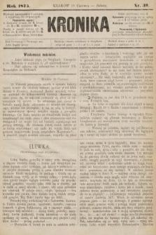 Kronika. 1875, nr39