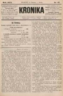 Kronika. 1875, nr47