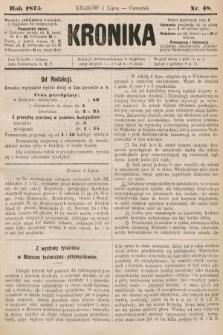Kronika. 1875, nr48