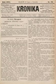 Kronika. 1875, nr72