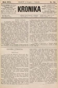Kronika. 1875, nr84