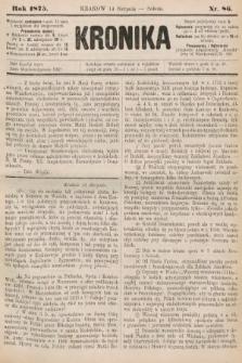 Kronika. 1875, nr86