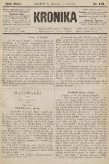 Kronika. 1875, nr113
