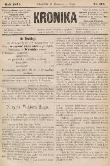 Kronika. 1875, nr118
