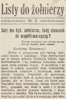 Listy do Żołnierzy. 1915, nr2