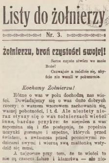 Listy do Żołnierzy. 1915, nr3