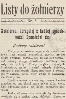 Listy do Żołnierzy. 1915, nr5