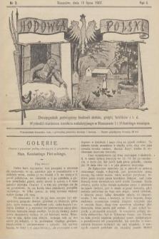 Hodowca Polski : dwutygodnik poświęcony hodowli drobiu, gołębi, królików itd. 1907, nr3