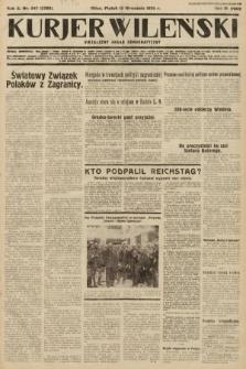 Kurjer Wileński : niezależny organ demokratyczny. 1933, nr247