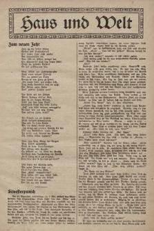 Haus und Welt. [1928], [nr2]