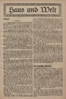 Haus und Welt. [1928], [nr12]