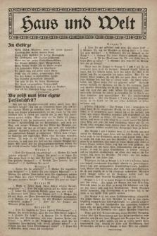 Haus und Welt. [1928], [nr31]