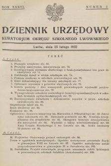 Dziennik Urzędowy Kuratorjum Okręgu Szkolnego Lwowskiego. 1932, nr2