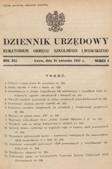 Dziennik Urzędowy Kuratorium Okręgu Szkolnego Lwowskiego. 1937, nr4