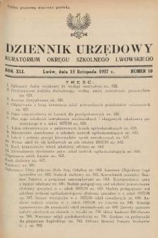 Dziennik Urzędowy Kuratorium Okręgu Szkolnego Lwowskiego. 1937, nr10