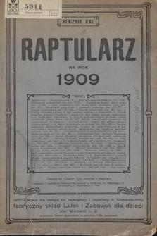Raptularz na Rok 1909