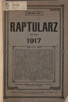 Raptularz na Rok 1917