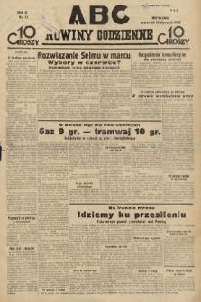 ABC : nowiny codzienne. 1935, nr11
