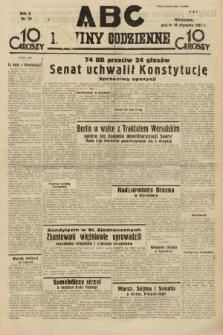 ABC : nowiny codzienne. 1935, nr19