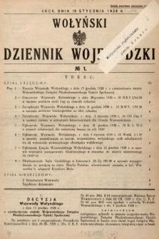 Wołyński Dziennik Wojewódzki. 1939, nr1