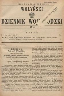 Wołyński Dziennik Wojewódzki. 1939, nr4
