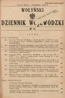 Wołyński Dziennik Wojewódzki. 1939, nr13