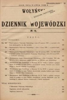 Wołyński Dziennik Wojewódzki. 1939, nr16
