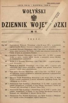Wołyński Dziennik Wojewódzki. 1939, nr17