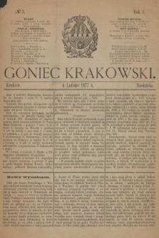 Goniec Krakowski. 1877, nr5