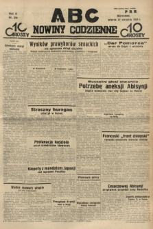 ABC : nowiny codzienne. 1935, nr244