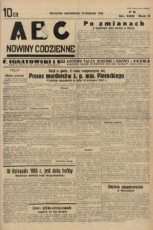 ABC : nowiny codzienne. 1935, nr329