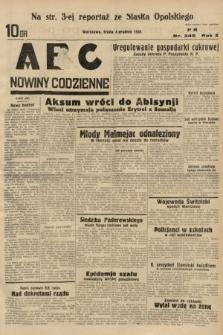 ABC : nowiny codzienne. 1935, nr345