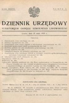 Dziennik Urzędowy Kuratorjum Okręgu Szkolnego Lwowskiego. 1933, nr5