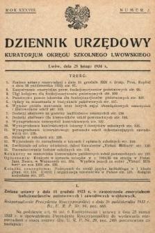 Dziennik Urzędowy Kuratorjum Okręgu Szkolnego Lwowskiego. 1934, nr2