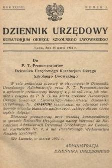 Dziennik Urzędowy Kuratorjum Okręgu Szkolnego Lwowskiego. 1934, nr3