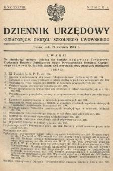 Dziennik Urzędowy Kuratorjum Okręgu Szkolnego Lwowskiego. 1934, nr4