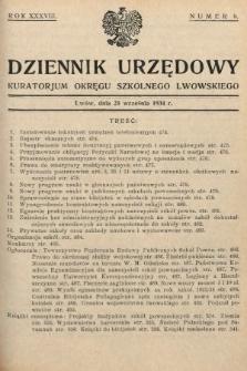 Dziennik Urzędowy Kuratorjum Okręgu Szkolnego Lwowskiego. 1934, nr9