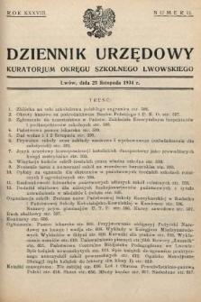 Dziennik Urzędowy Kuratorjum Okręgu Szkolnego Lwowskiego. 1934, nr11
