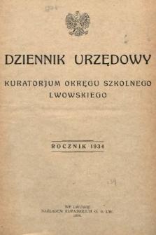 Dziennik Urzędowy Kuratorjum Okręgu Szkolnego Lwowskiego. 1934 [całość]
