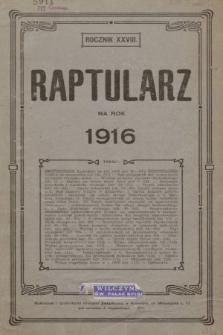 Raptularz na Rok 1916