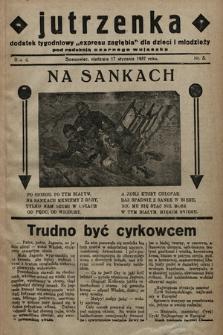 """Jutrzenka : dodatek tygodniowy """"Expresu Zagłębia"""" dla dzieci i młodzieży pod redakcją Czarnego Wujaszka. R. 2, 1937, nr3"""