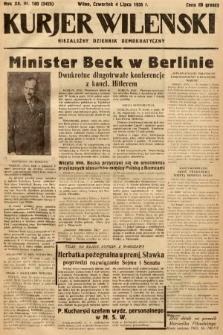 Kurjer Wileński : niezależny dziennik demokratyczny. 1935, nr180