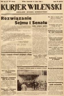 Kurjer Wileński : niezależny dziennik demokratyczny. 1935, nr187