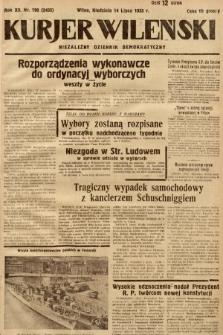 Kurjer Wileński : niezależny dziennik demokratyczny. 1935, nr190
