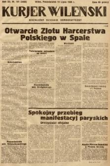 Kurjer Wileński : niezależny dziennik demokratyczny. 1935, nr191