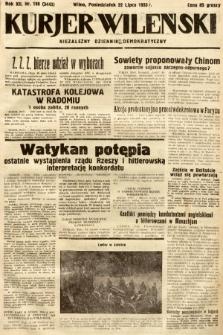 Kurjer Wileński : niezależny dziennik demokratyczny. 1935, nr198