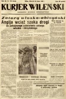 Kurjer Wileński : niezależny dziennik demokratyczny. 1935, nr199